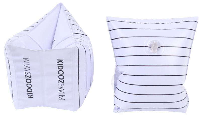 Kidooz | Zwembandjes streep zwart/wit