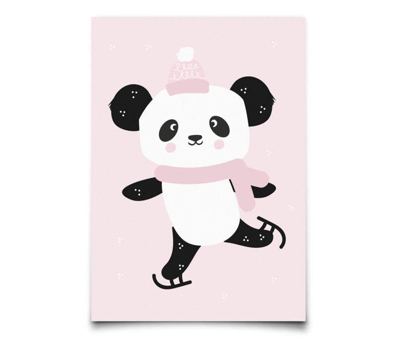 Eef Lillemor kerstkaart Winter Panda