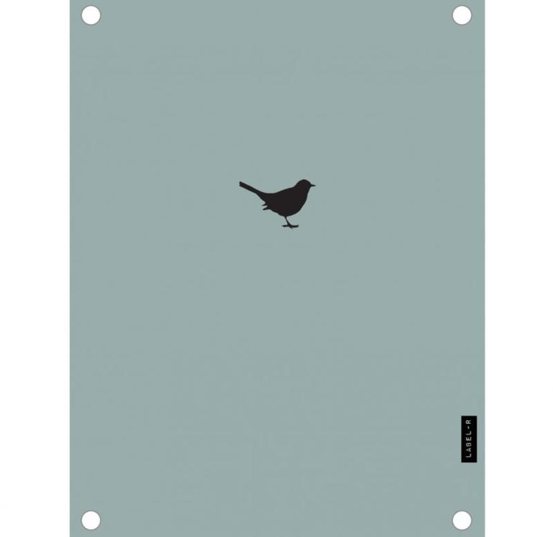 Label-R | Tuinposter Vogeltje (mosgroen)