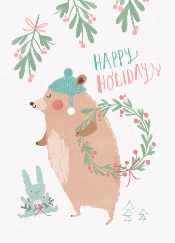 Petite Louise - Kerstkaart 'Happy Holidays'