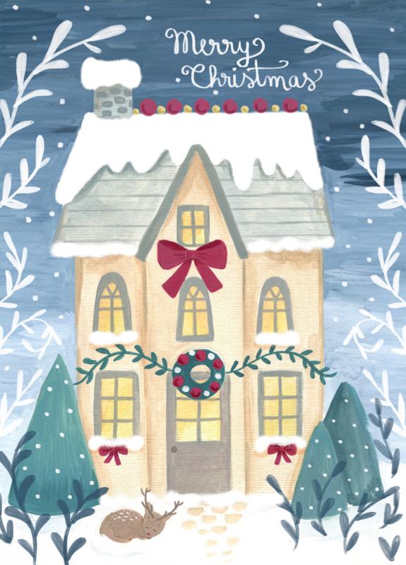 Petite Louise - Kerstkaart 'Merry Christmas'