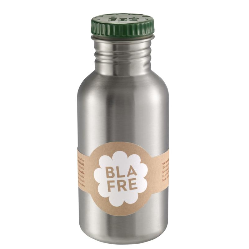 Blafre Drinkfles RVS 500 ml (donkergroene dop)