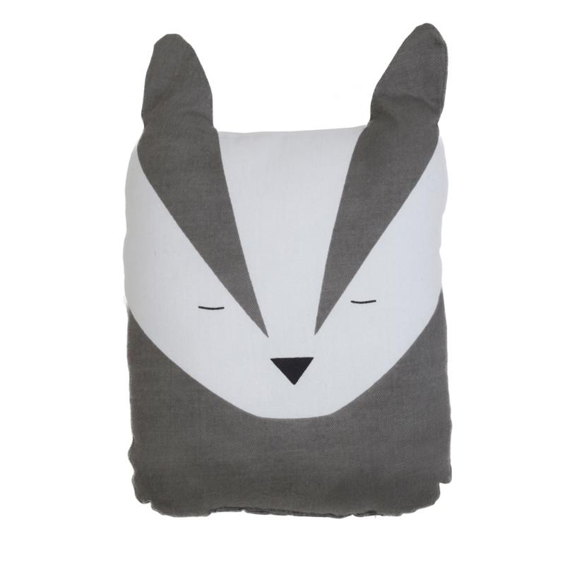 Fabelab knuffel/kussen Bold Badger