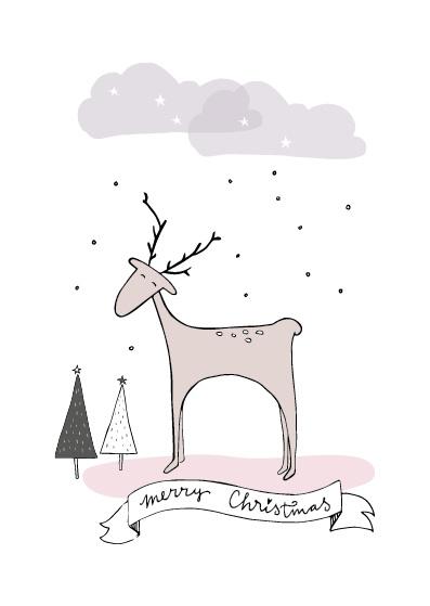 Funny Side Up - Kerstkaart Merry Christmas