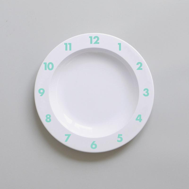 Buddy and Bear melamine bord Dinner Time (mint)