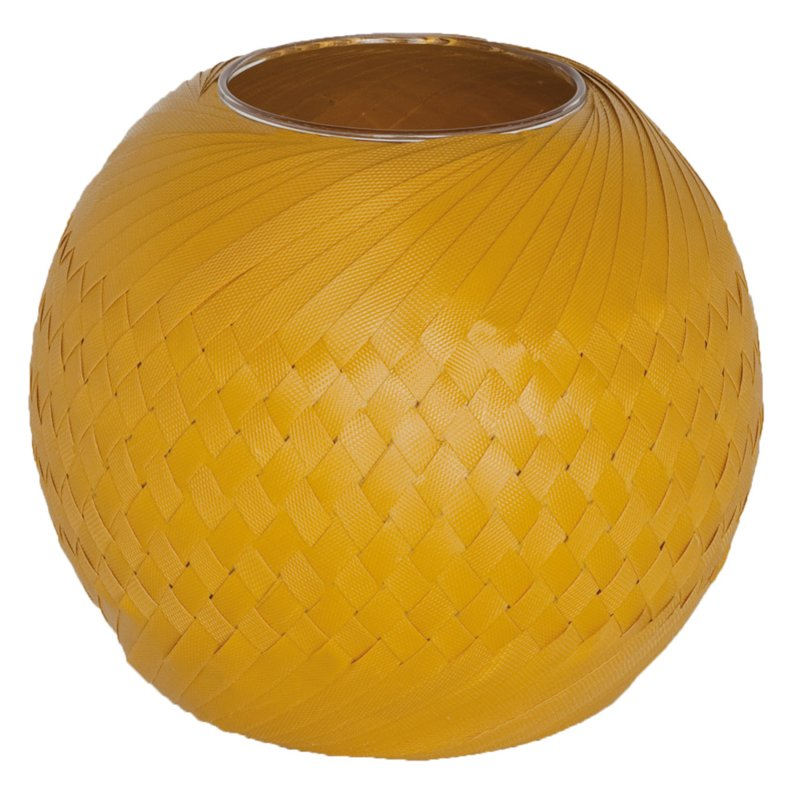 Handed By vaas Bowl 25 cm (mosterdgeel)