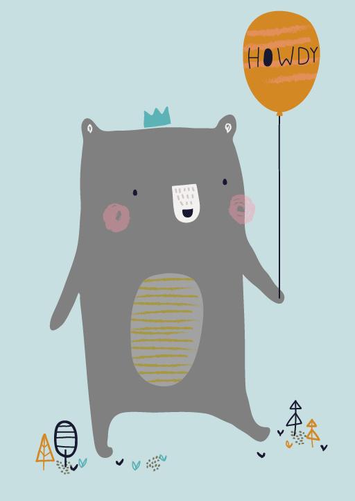 Petite Louise - Kaart 'Howdy Bear'