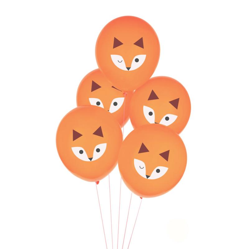 My Little Day ballonnen Vosjes (5 stuks)