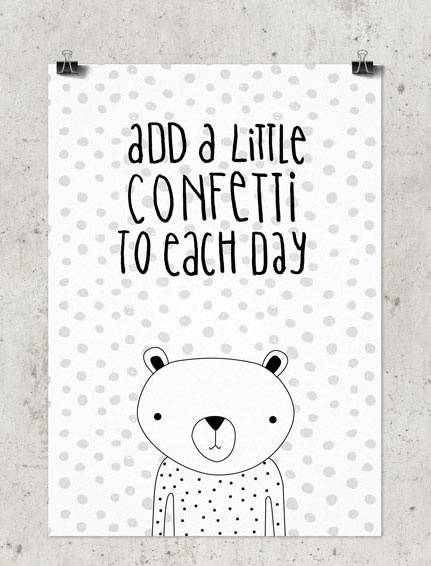 Studio Rainbow Prints - A5 Poster Add a little confetti to each day