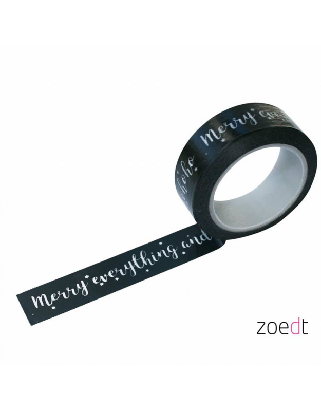 Zoedt Masking tape Merry everything and happy hohoho