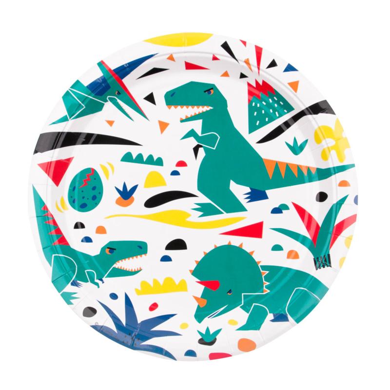 My Little Day papieren bord Dinosaurus (8 stuks)