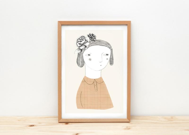 Depeapa Print Flower Girl (A4)