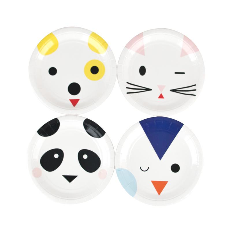 My Little Day papieren bord Mini Animals (8 stuks)