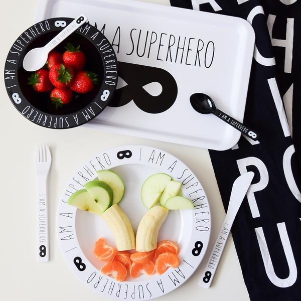 V&C Designs | Dienblad I am a Superhero (wit)
