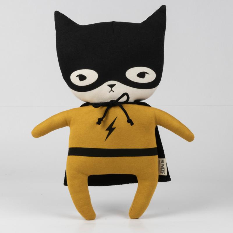 Bundis   Knuffel Bundis Superhero (okergeel)