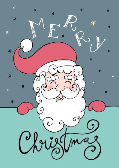 Funny Side Up - Kerstkaart Merry Christmas (kerstman)