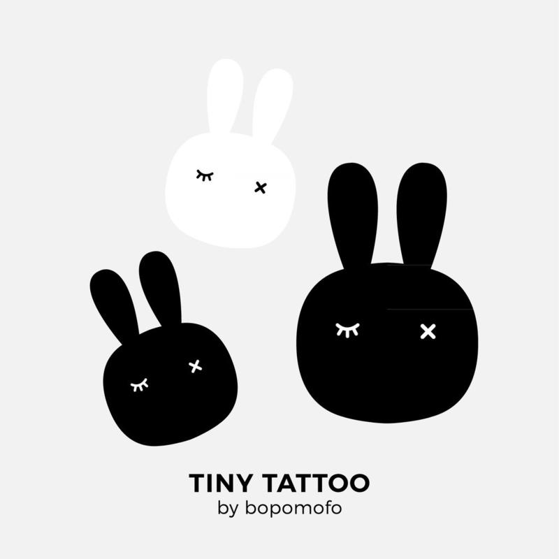 BoPoMoFo | Water print tattoo Bunnies