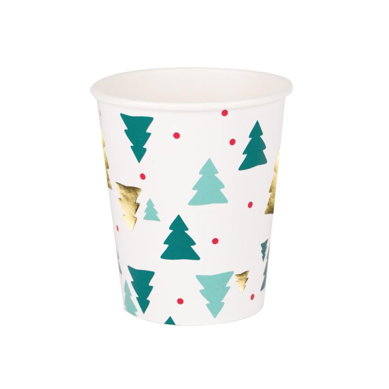 My Little Day papieren beker Christmas Trees (8 stuks)