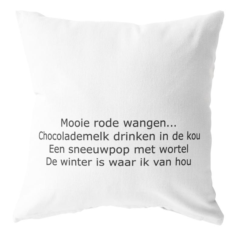 Label-R | Buitenkussen #wintergeluk (wit)