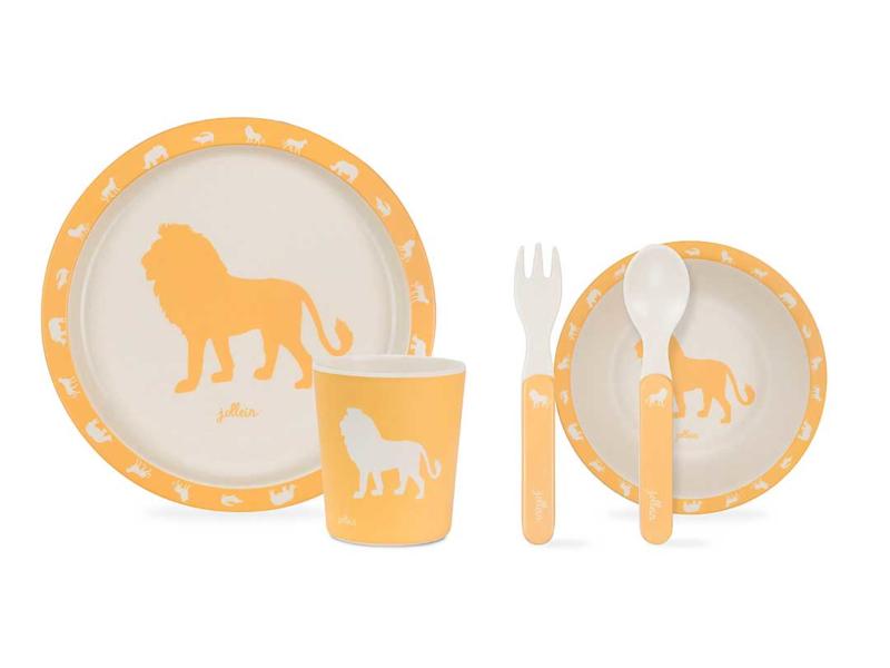 Jollein   Dinnerset Safari Okergeel