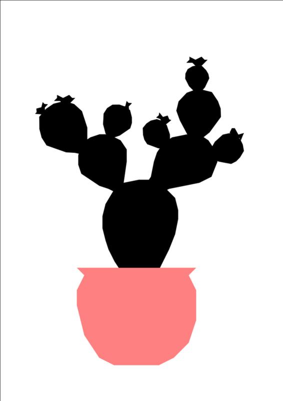 Ingrid Petrie Design  - Cactus pot (A4)