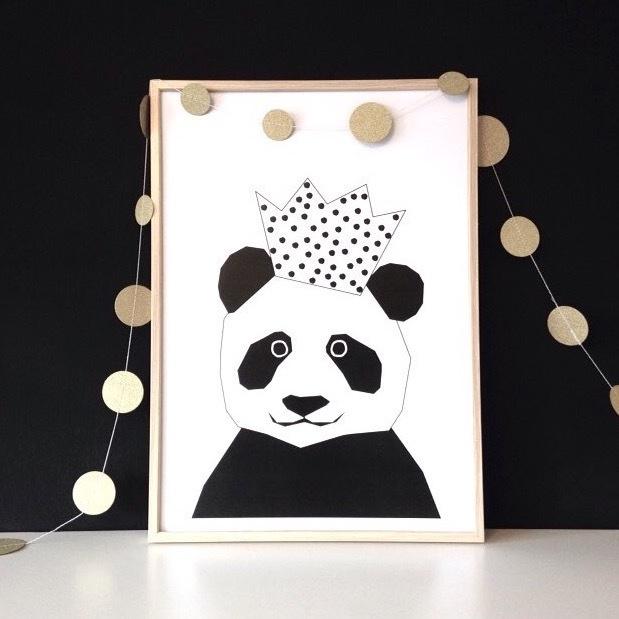 Ingrid Petrie Design - Party Panda print (A3)