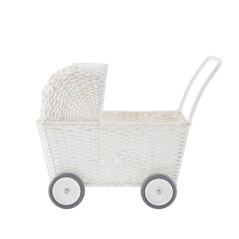 Olli Ella Strolley poppenwagen én boodschappenwagen - wit