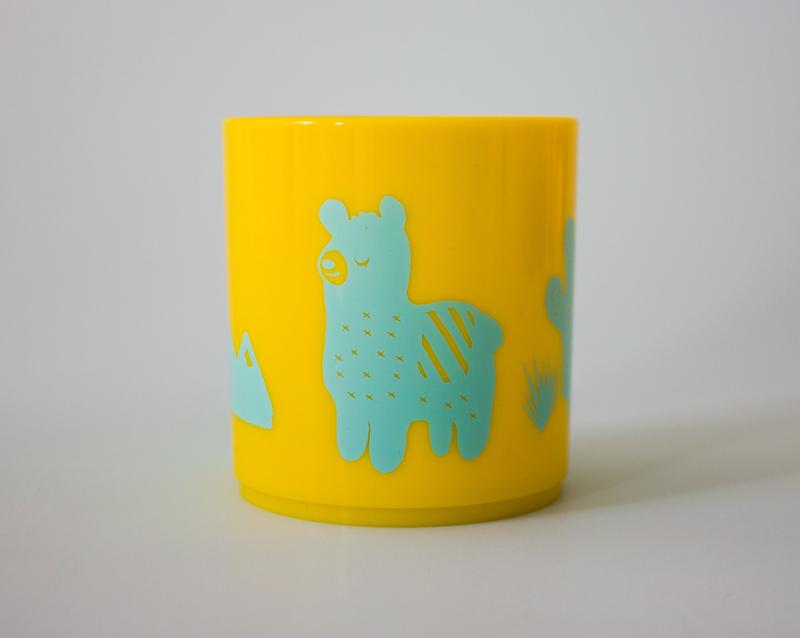Little Mr. M & Friends   Drinkbeker Llama Llummy (aqua)