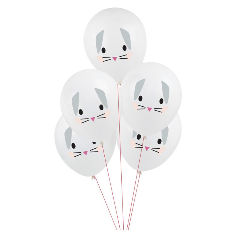 My Little Day ballonnen Konijn (5 stuks)