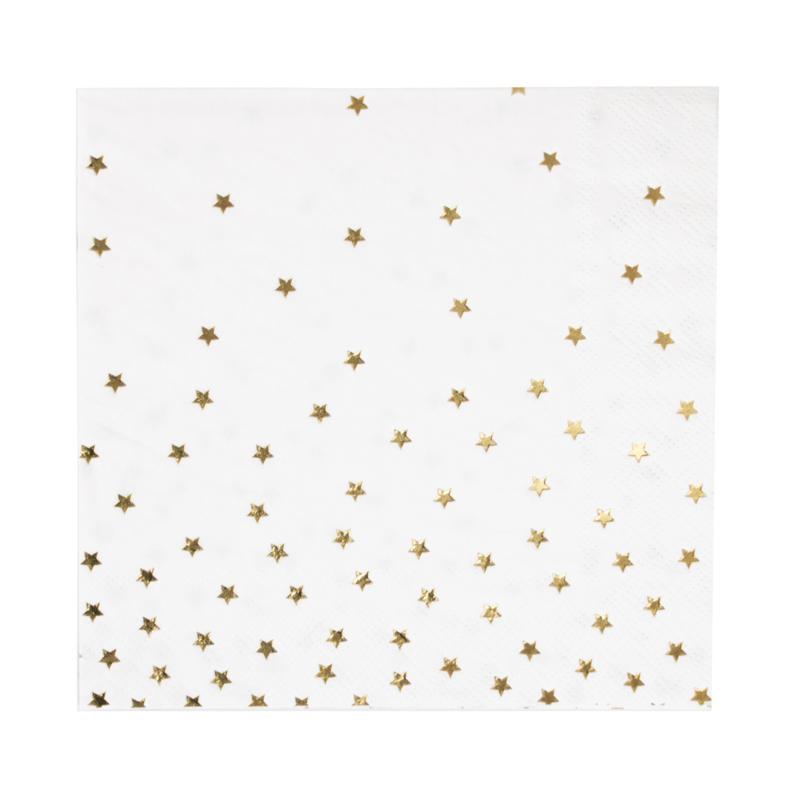 My Little Day Servetten Stars goud (16 stuks)