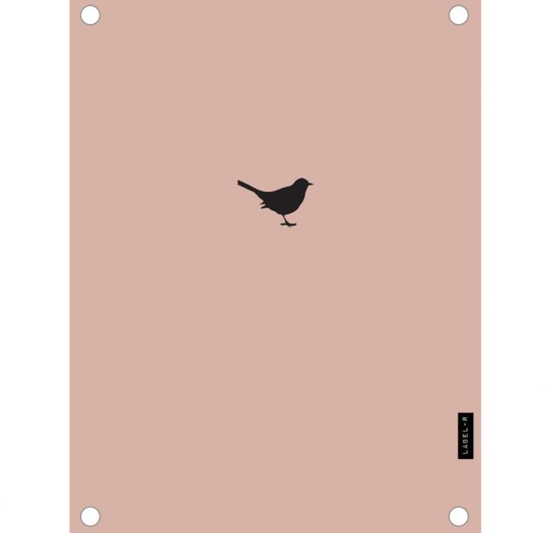Label-R | Buitenposter Vogeltje (oudroze)
