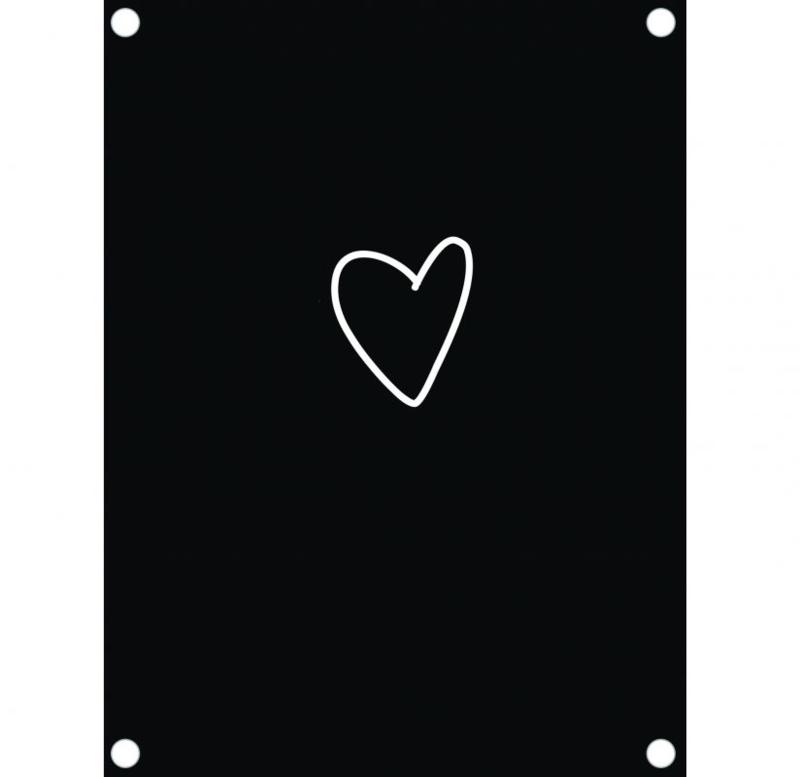 Label-R | Tuinposter Hart (zwart)