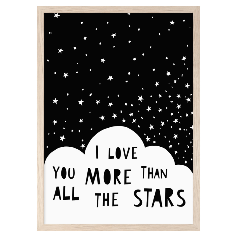Mini Learners – Poster I love you more than all the stars (A3)