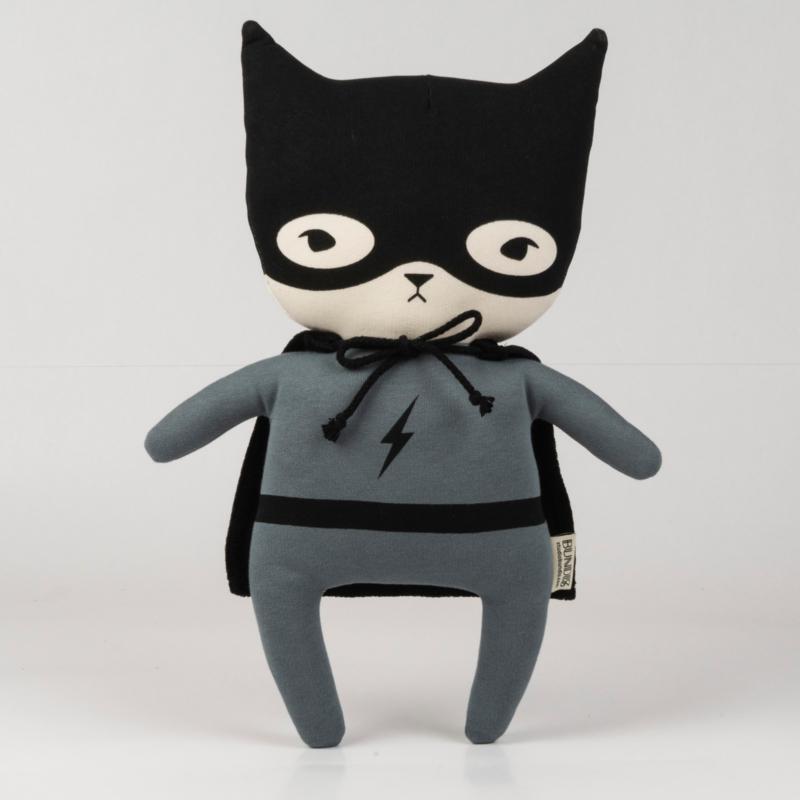 Bundis   Knuffel Bundis Superhero (staalgrijs)