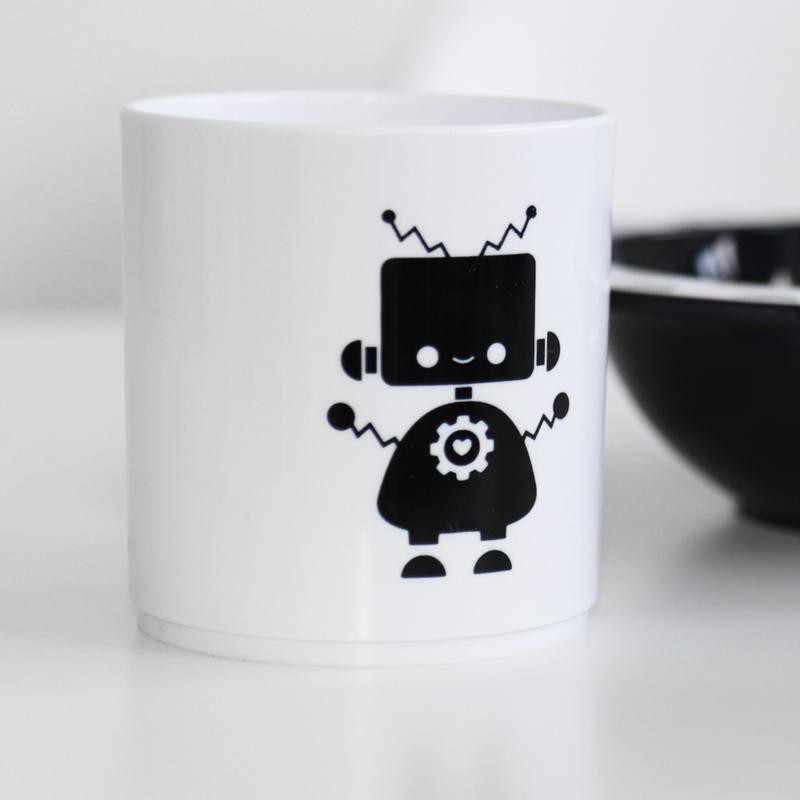 Little Mr. M & Friends | Drinkbeker Bobot (wit)