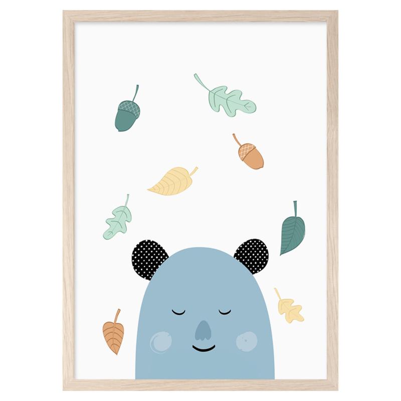 Mini Learners – Poster Sleepy Bear (A3)