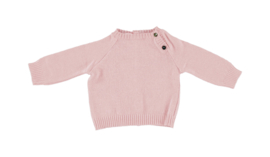 Jumper with Button-up neck dusty pink