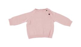 Jersey con botones laterales en rosa palo