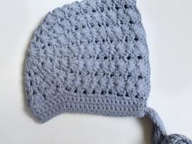 Knitted blue bonnet