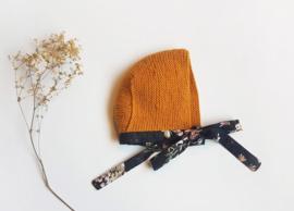 Handmade - Mustard Knitted Bonnet