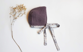 Handmade - Lilac Knitted Bonnet