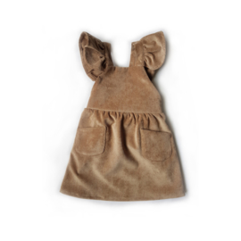 Alexandra dress / camel corduroy