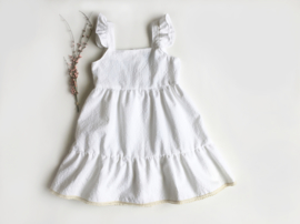 White vichy dress