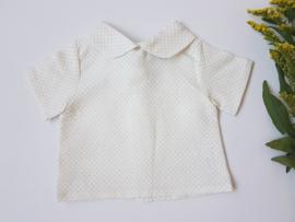 Baby blouse / lino dots
