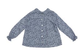 Alice blouse - Reversible shirt / grey flowers