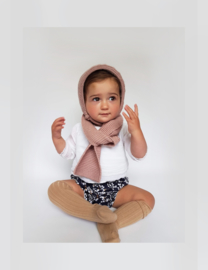 Hand knitted Hooded-Scarf - 057