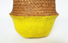 Wicker basket - Yellow - ø 25 cm