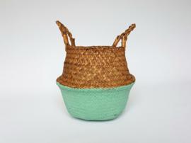 Wicker basket - Light green - ø 25 cm