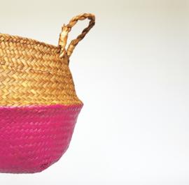 Wicker basket - Fuchsia - ø 25 cm