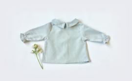 Baby blouse / Grey pearl viyella